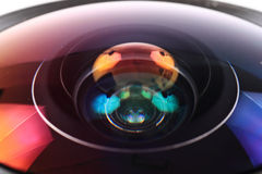 Lens of photo camera (objective) Royalty Free Stock Images
