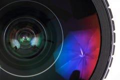 Lens of photo camera (objective) Royalty Free Stock Photos