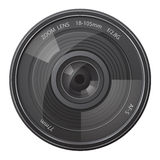 Lens photo camera vector illustration Royalty Free Stock Photo