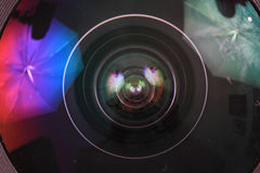 Lens of photo camera (objective) Royalty Free Stock Photos