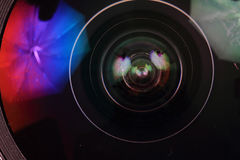 Lens of photo camera (objective) Royalty Free Stock Photo