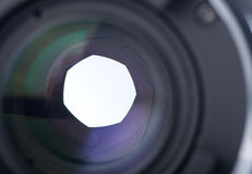 Lens of the photo objective Royalty Free Stock Photo