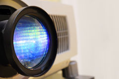 Lens photo of projector Royalty Free Stock Images