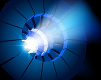 Lens of projector. Vector illustration. Royalty Free Stock Image