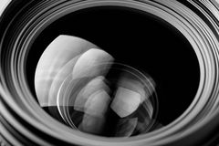 Lens reflection black and white photo Royalty Free Stock Image