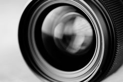 Lens reflection black and white photo Royalty Free Stock Photography