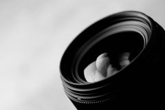 Lens reflection black and white photo Stock Images