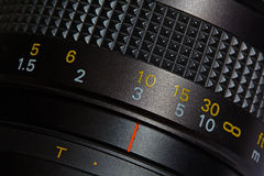 Lens scale Royalty Free Stock Photo