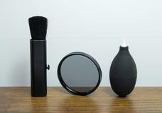 Lens schoonmakende uitrusting Stock Foto