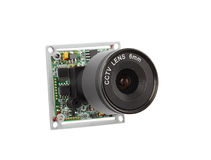 Lens for security video cameras. Security systems Stock Images