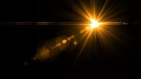 Lens signalljusljus över svart bakgrund Lätt att tillfoga samkopieringen Arkivbild