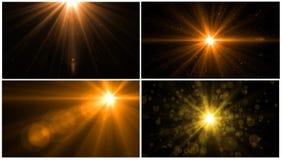 Lens signalljusljus över svart bakgrund Lätt att tillfoga samkopieringen Royaltyfri Bild