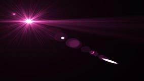 Lens signalljusljus över svart bakgrund Lätt att tillfoga samkopieringen Arkivfoton