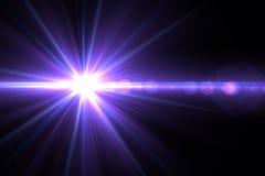 Lens signalljusljus över svart bakgrund Lätt att tillfoga samkopieringen eller s Arkivfoto