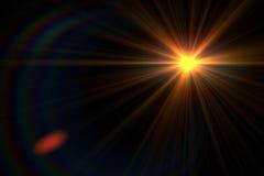 Lens signalljusljus över svart bakgrund Lätt att tillfoga samkopieringen eller s Fotografering för Bildbyråer