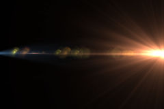 Lens signalljusljus över svart bakgrund Lätt att tillfoga samkopieringen eller s Royaltyfri Foto