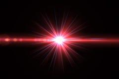 Lens signalljusljus över svart bakgrund Lätt att tillfoga samkopieringen eller s Royaltyfria Bilder