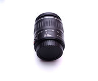 Lens from the SLR. On a white background (isolated Royalty Free Stock Photo