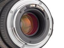 Lens van moderne digitale camera, achtermening van lens Stock Afbeelding