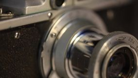 Lens and Viewfinder Film photocameras stock footage