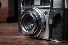 Lens of a vintage camera Royalty Free Stock Images