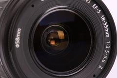 Lens voor digitale camera op witte achtergrond Royalty-vrije Stock Foto