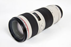 Lens zoom 70-200mm Stock Photography