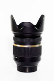 Lens zoom in white background Royalty Free Stock Photography