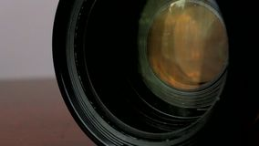 Lens zooming stock video