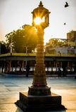 Lense alarga-se black&white criativo da composição dentro de Jama Masjid & de x28; mosque& x29; em Ahmedabad imagens de stock royalty free