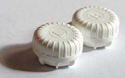 Lense case. A box for contact lenses. Image contains a path Stock Photos