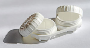 Lense case. A box for contact lenses Royalty Free Stock Photography