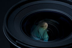 Lense de la cámara de DSLR Fotografía de archivo