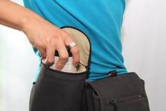 Lense in der Tasche Lizenzfreie Stockbilder