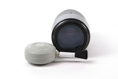 Lense e spazzola del ventilatore fotografie stock