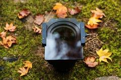Lense met houder en gediplomeerde Nd-filter Stock Fotografie