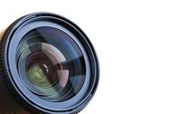 Lense professionale della macchina fotografica isolato su fondo bianco Immagine Stock