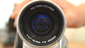Lense Zooms Out stock video footage