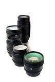 Lenses on white background Royalty Free Stock Images