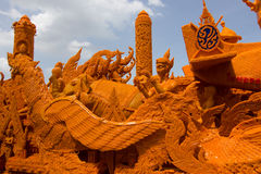Lent Candle Festival annuale 2559 al monumento di Suranaree Immagini Stock Libere da Diritti