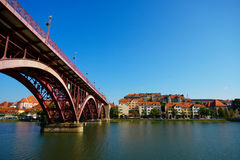Lent and Drava River, Maribor, Slovenia Royalty Free Stock Photography