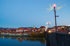 Lent, Maribor And Drava River Royalty Free Stock Images