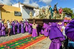 Lent procession, Antigua, Guatemala Stock Images