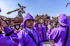 Lent procession float, Antigua, Guatemala stock photos