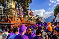Lent religious procession, Antigua, Guatemala Stock Images