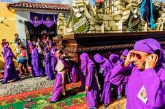 Lent religious procession, Antigua, Guatemala Stock Photography