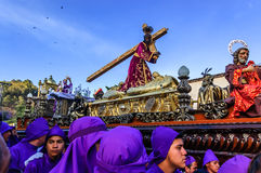 Lent religious procession, Antigua, Guatemala Stock Photo