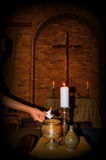 Lent. Sacred ceremony of Lent with ashes Stock Photography