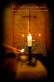 Lent. Sacred ceremony of Lent with ashes Stock Photo