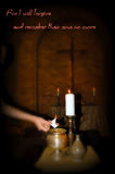 Lent. Sacred ceremony of Lent with ashes Stock Image
